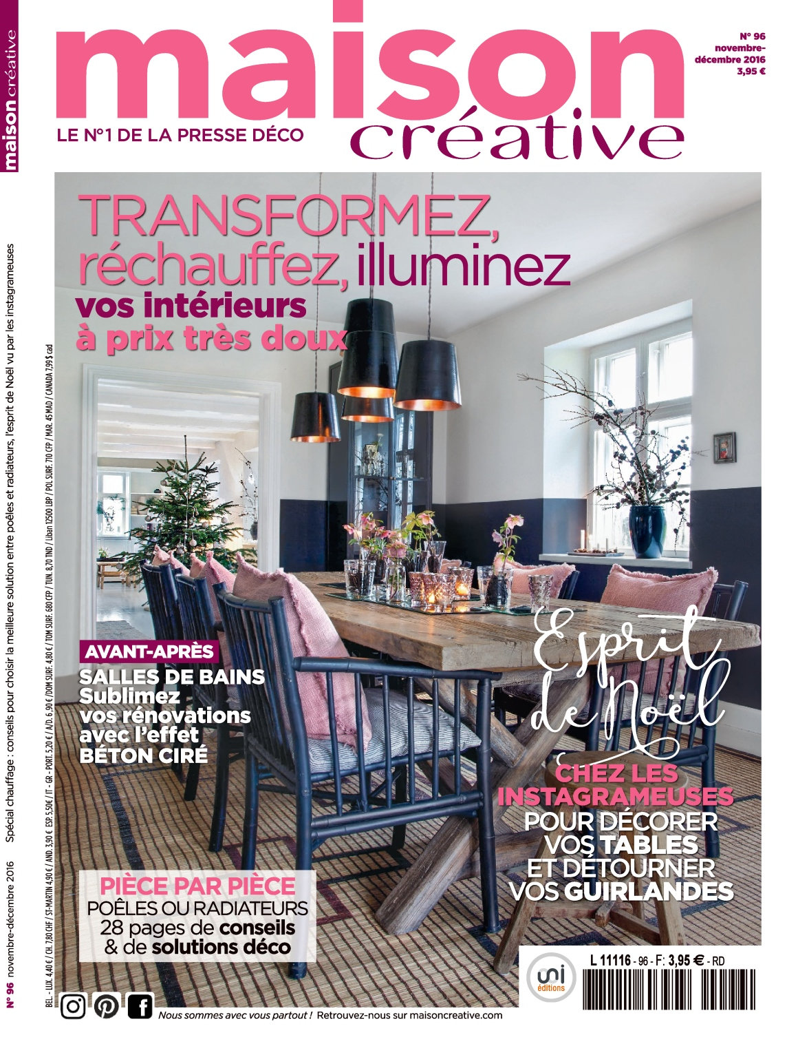 Maison Créative magazine November and December 2016