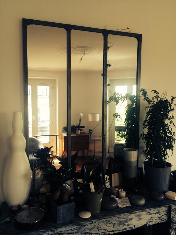 Lo specchio da atelier colonizzato da una pianta rampicante!