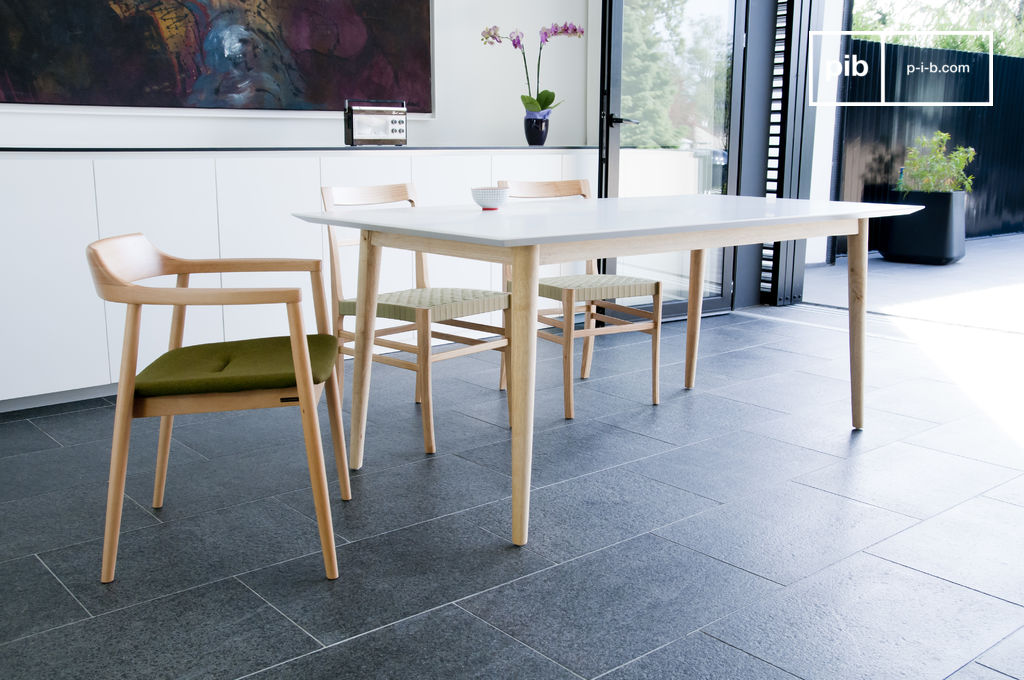 tavolo in legno fjord linee in stile scandinavo pib