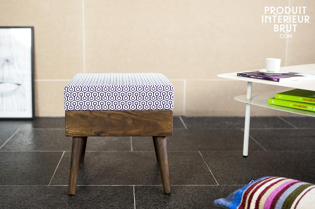 Pouf londress seduta o poggiapiedi in stile vintage for Scrivania stile scandinavo