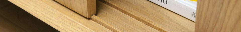 Materiali prima di tutto -Grande cassettiera in rovere chiaro Fiska