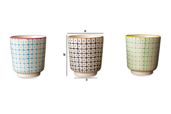 Dimensioni del prodotto 3 tazzine da caffè Brunï
