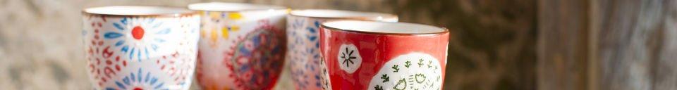 Materiali prima di tutto 4 Tazze da caffè Tzigane
