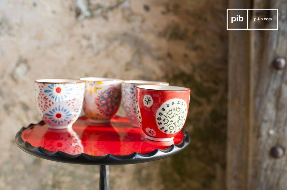 Le 4 tazzine da caffè Tzigane sono perfette per godersi un caffè con i propri cari e allo stesso
