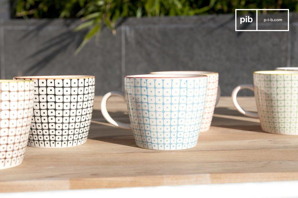 6 tazze in porcellana Brüni