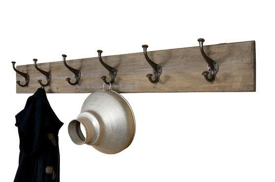 Appendiabiti grande in metallo e legno Foto ritagliata