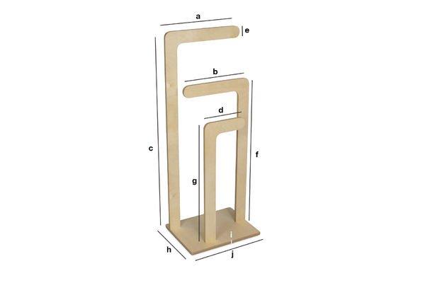 Dimensioni del prodotto Appendiabiti svedese in legno
