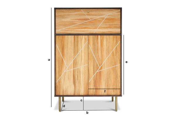 Dimensioni del prodotto Armadio in legno Linéa