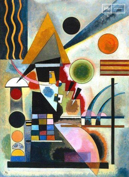 Arte Bauhaus - Swinging di Wassily Kandinsky, 1925