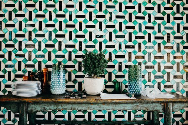 Beautiful tiled wall