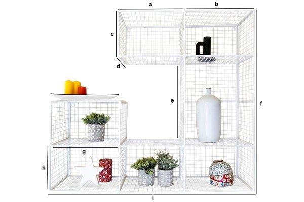 Dimensioni del prodotto Biblioteca da muro Blanche Rosa
