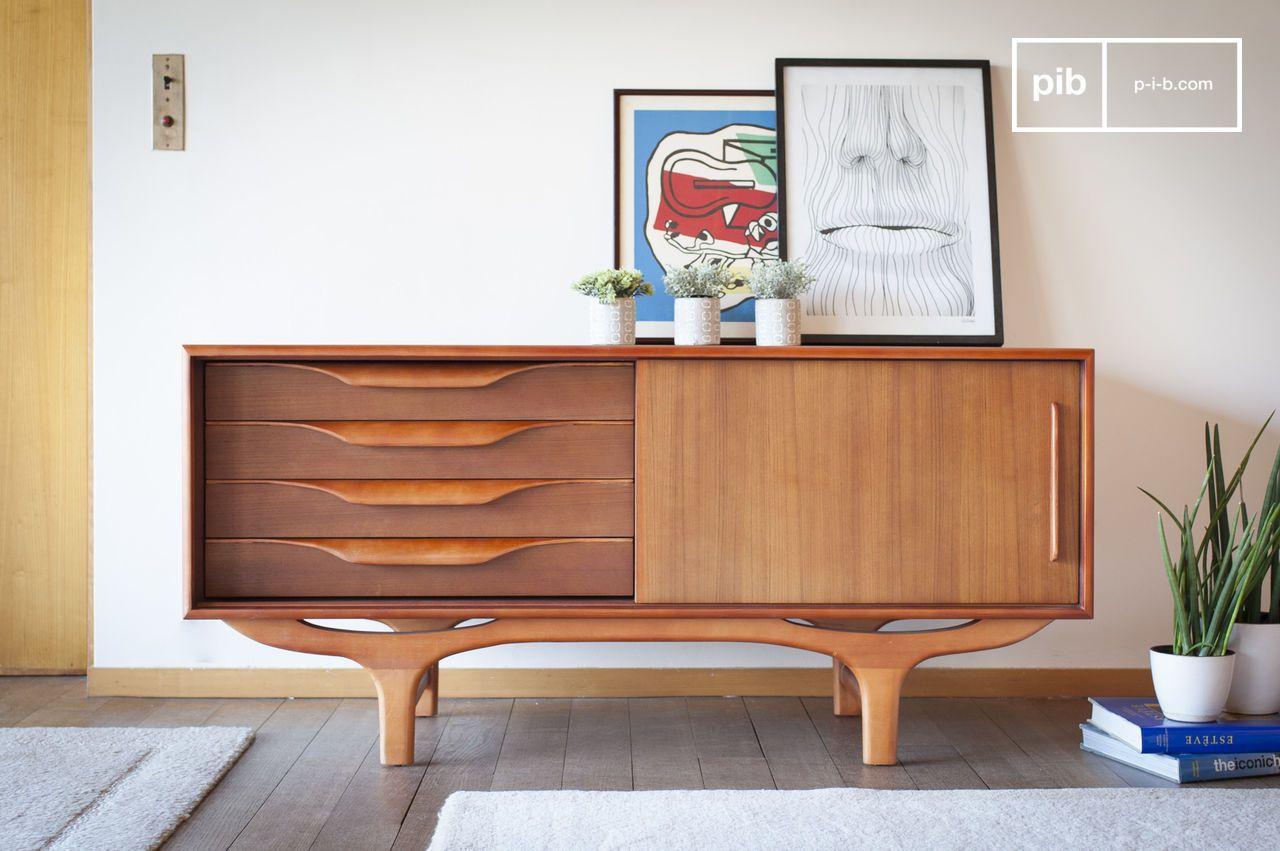 Mobili Con Cassetti Nascosti buffet scandinavo in legno alrik
