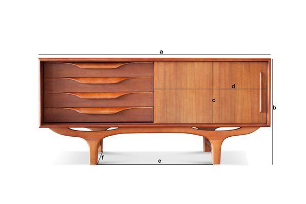 Dimensioni del prodotto Buffet scandinavo in legno Alrik