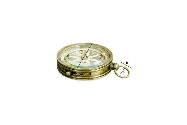 Dimensioni del prodotto Bussola del Timoniere