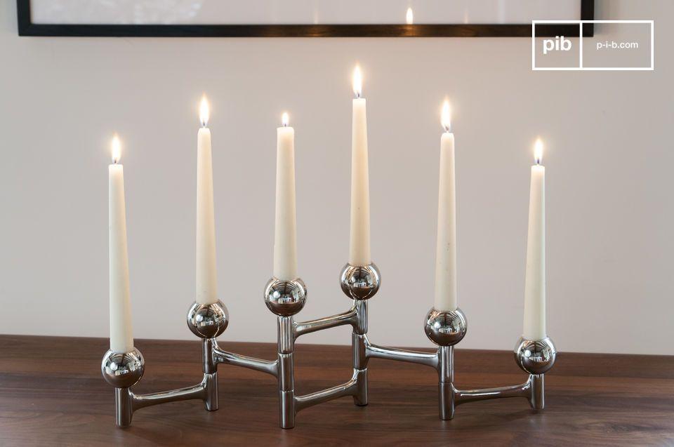 Un accessorio elegante e modulabile per 6 candele