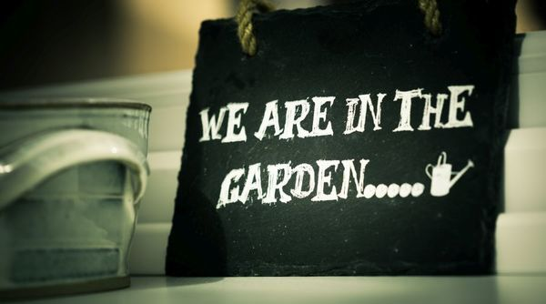 cartello giardino