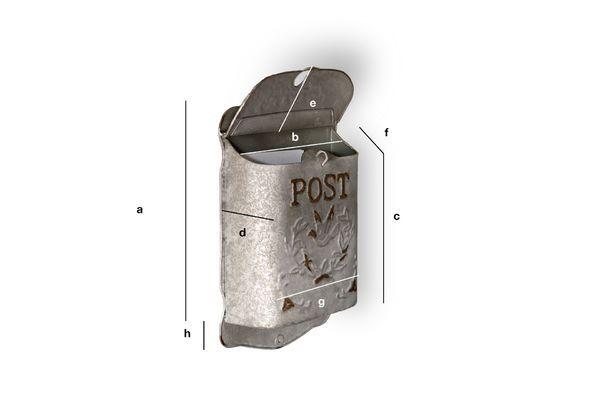 Dimensioni del prodotto Cassetta della posta