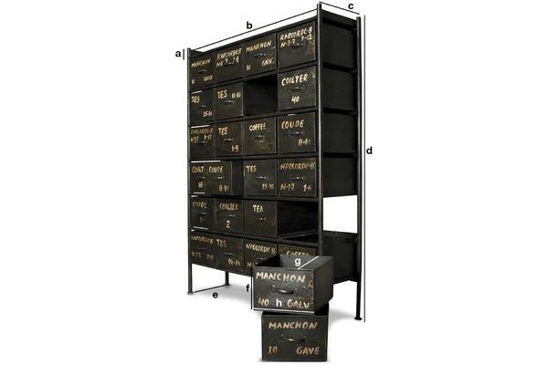Dimensioni del prodotto Cassettiera a 24 cassetti