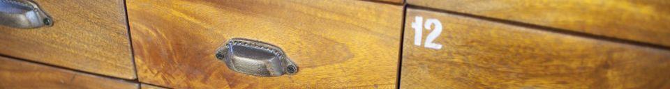 Materiali prima di tutto Cassettiera in legno Shawinigan