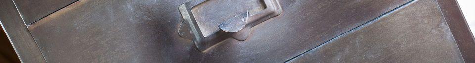 Materiali prima di tutto Cassettiera in metallo con 8 cassetti Terex