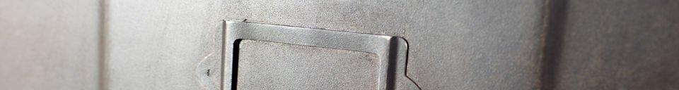 Materiali prima di tutto Cassettiera metallica con 5 scompartimenti
