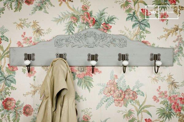 Ceramic Decorated Coat Rack