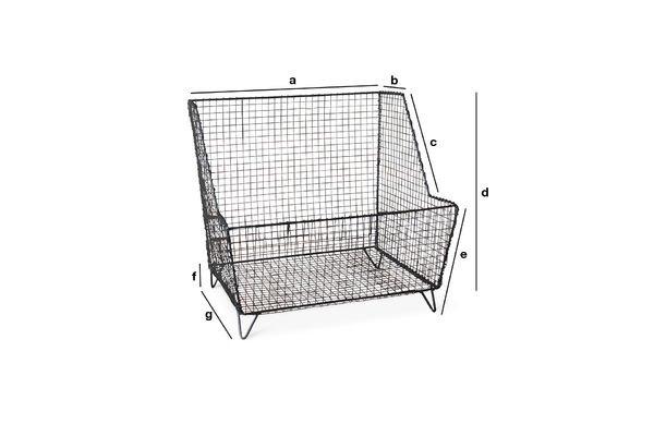 Dimensioni del prodotto Cesta a griglia Woburn
