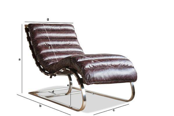 Dimensioni del prodotto Chaise longue Weimar