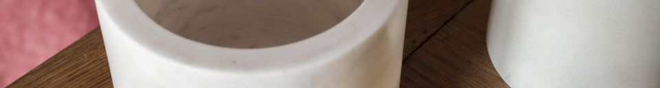 Materiali prima di tutto Cofanetto in marmo bianco Wäg