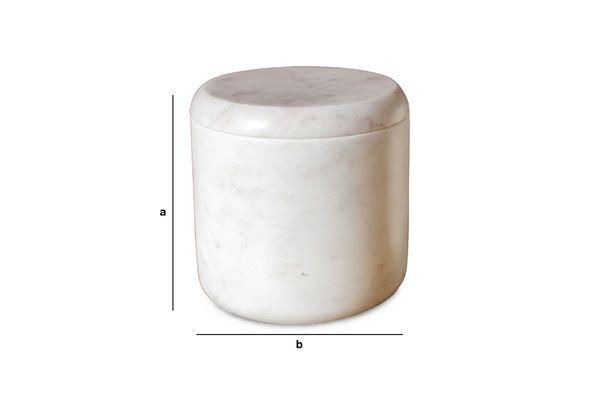 Dimensioni del prodotto Cofanetto in marmo bianco Wäg
