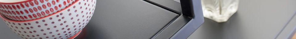 Materiali prima di tutto Console in metallo nero Duvignac