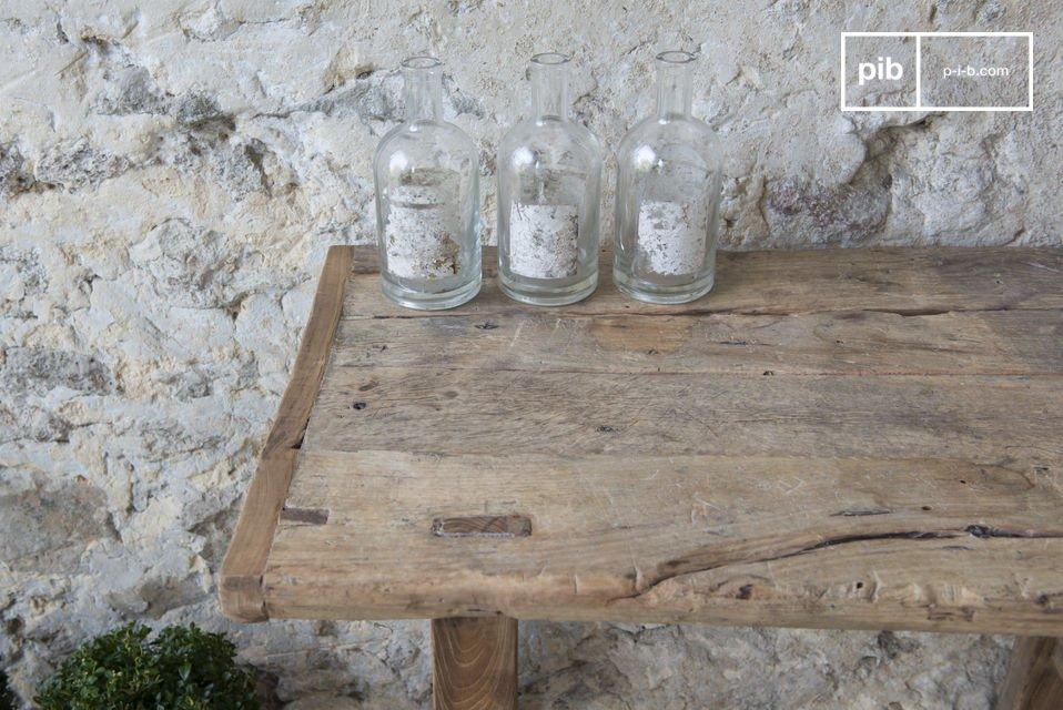 100% legno antico di olmo, ogni pezzo è unico