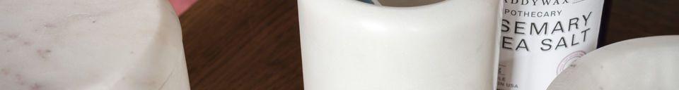Materiali prima di tutto Contenitore in marmo bianco Wäg