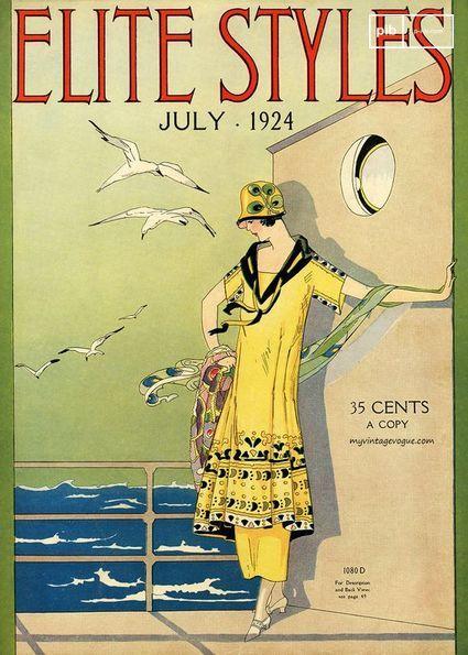 Copertina di una rivista negli anni '20