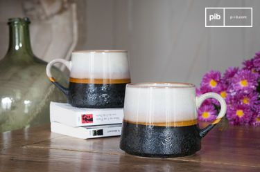 Coppia di grandi tazze Ceramix