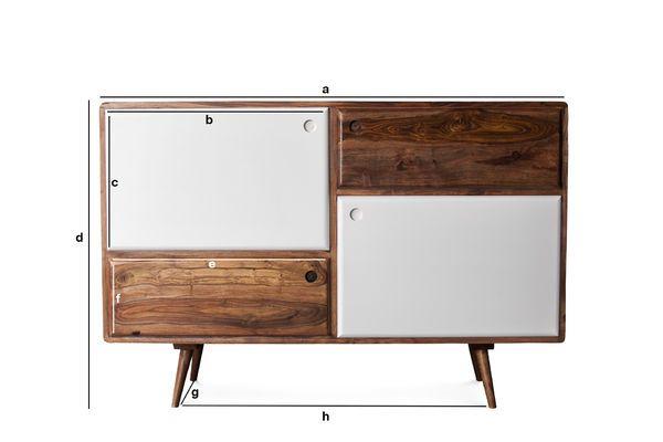 Dimensioni del prodotto Credenza di design in legno 1969