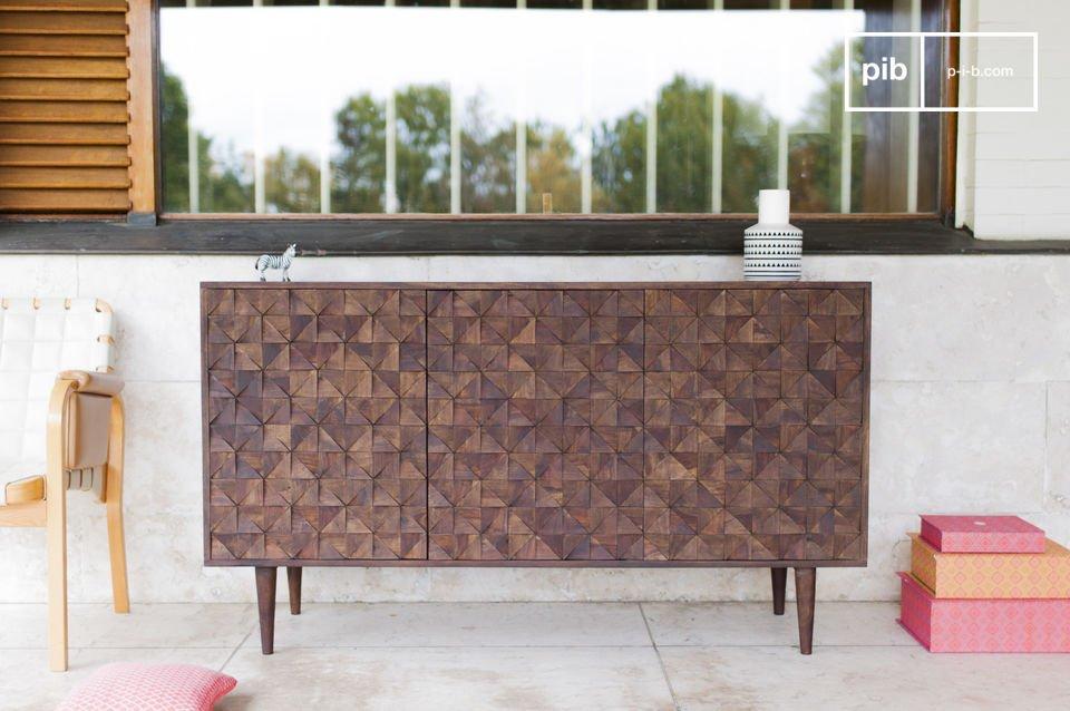 Credenza De Madera Moderna : Credenza in legno balkis geometrie vintage pib