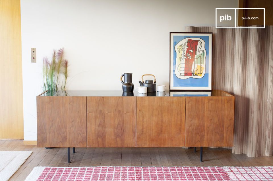 Credenza Con Marmo : Credenza in legno e marmo lovisa nero venato bianco pib