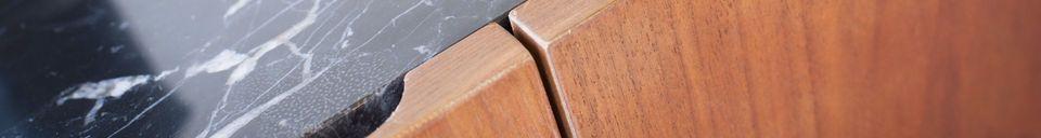 Materiali prima di tutto Credenza in legno e marmo Lovisa