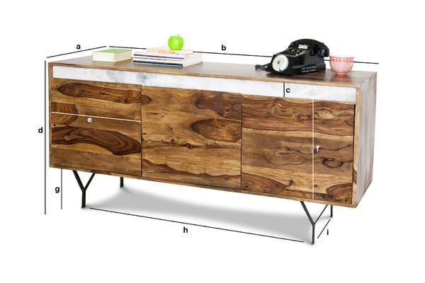 Dimensioni del prodotto Credenza in legno Mabillon