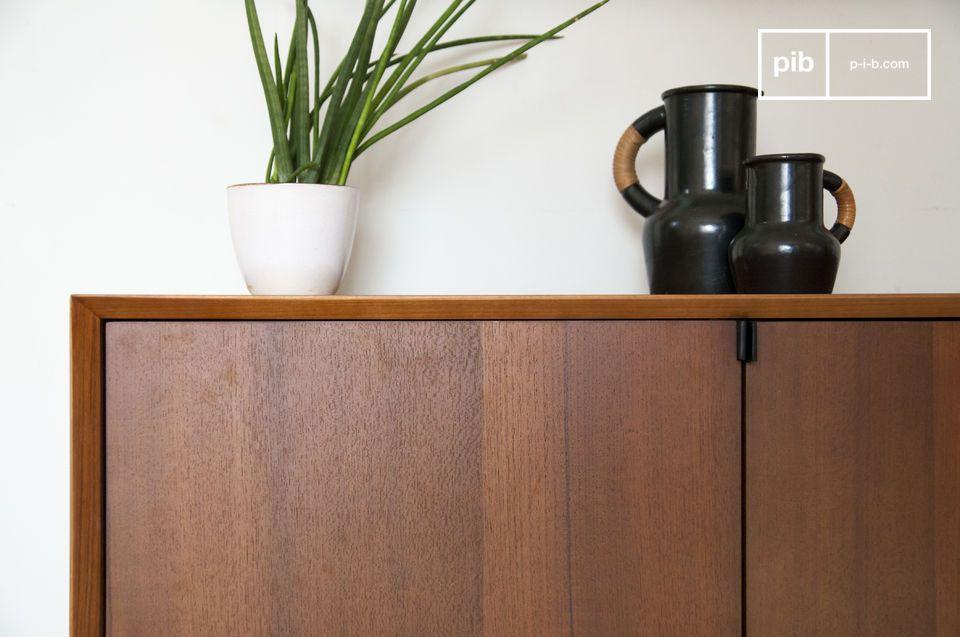 Bella credenza a 4 porte in legno teak in stile design del dopoguerra
