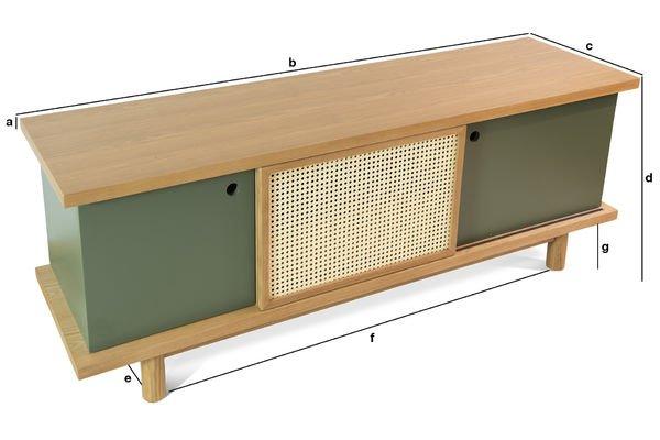 Dimensioni del prodotto Credenza Tammea in legno di quercia