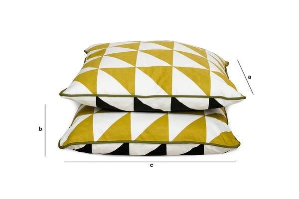 Dimensioni del prodotto Cuscino Norway giallo zafferano