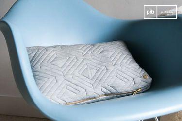 Cuscino Quilt grigio pallido