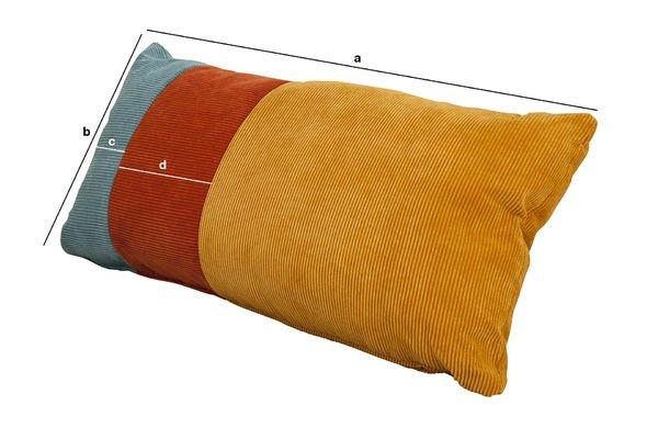 Dimensioni del prodotto Cuscino tricolore Mathis