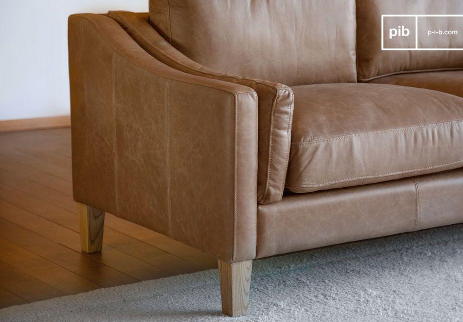 Molto stabile con le gambe in legno massiccio ben verniciato e ultra-confortevole con i suoi due