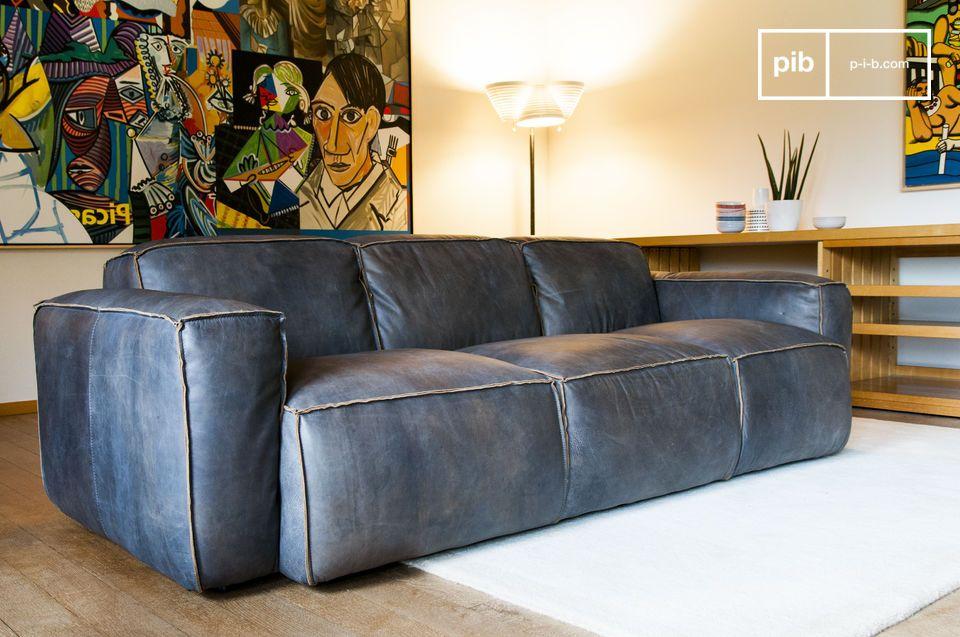 divano 3 posti atsullivan divano scandinavo di pelle di. Black Bedroom Furniture Sets. Home Design Ideas