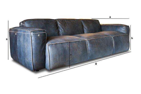 Divano 3 posti atsullivan divano scandinavo di pelle di - Dimensioni divano 3 posti ...
