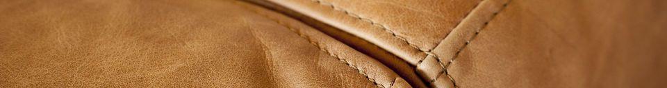 Materiali prima di tutto Divano Almond in pelle marrone