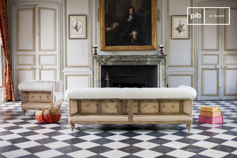 divano chesterfield montaigu lo charme vintage pib. Black Bedroom Furniture Sets. Home Design Ideas